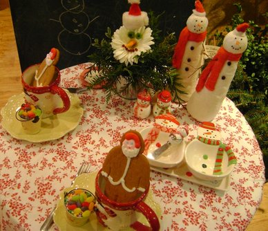 La Petite Fleur, snowman table, green xmas table 085