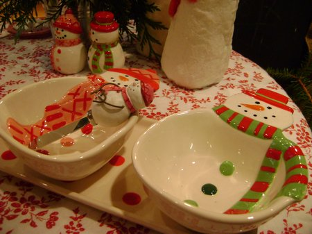 La Petite Fleur, snowman table, green xmas table 091