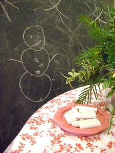 La Petite Fleur, snowman table, green xmas table 093
